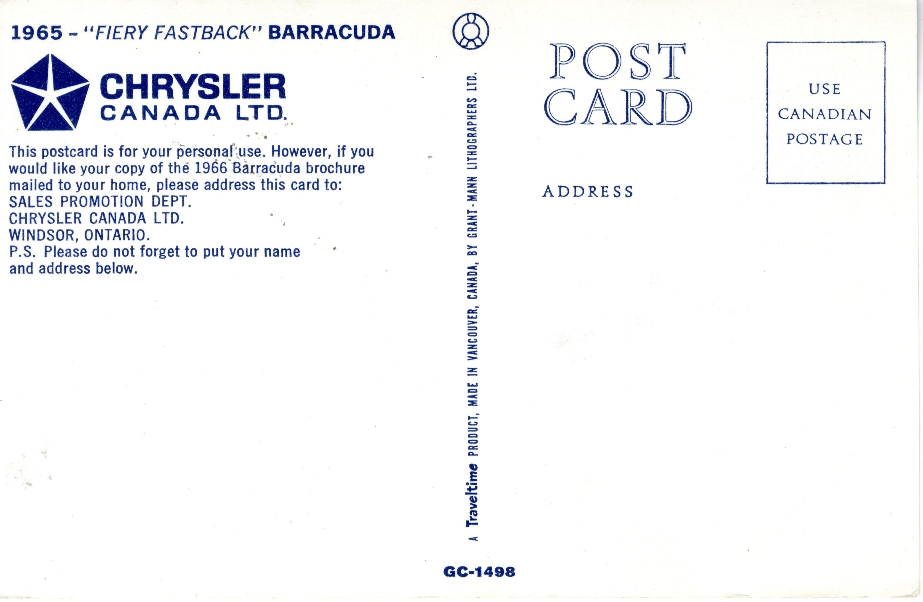 Fiery Fastback Barracuda 1965 | Southwestern Ontario Digital
